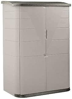 Rubbermaid Plastic Vertical Outdoor Storage Shed, 52-Cubic Foot, Beige (FG374601OLVSS)