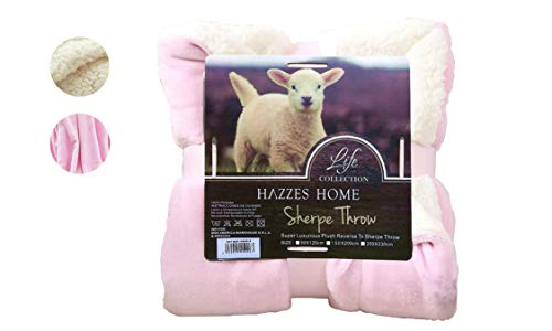 HAZZES Home® Mantas Reversibles Franela Sherpa -