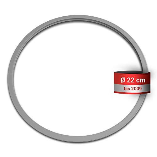 Junta de silicona de repuesto para Fissler 038-667-00-205/0, anillo de sellado de 22 cm de diámetro, para olla a presión de vapor, pieza de repuesto de Vitaquick Vitavit Royal hasta 2009
