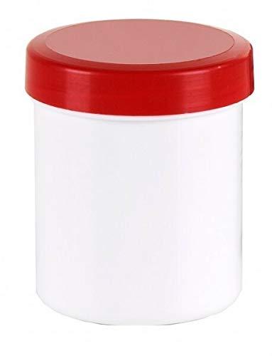 50 Salbendosen, Salbendose, Cremdose 20 g 25 ml Deckel rot Salbendöschen Dose Kunststoffdosen Schraubdeckeldosen Schraubdeckel Salbentiegel Apothekerdosen Apothekenqualität Fa.ars