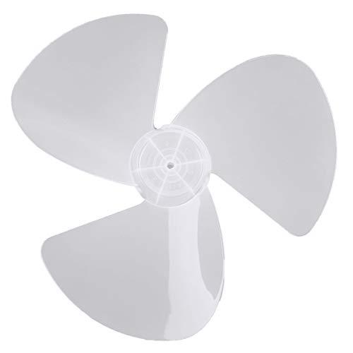 TiaoBug 3Piezas 16 Inches Aspas Hojas Plásticas de Ventilador Con/Sin Tuerca para Ventilador de Techo,Ventilador de Pie,Ventilador de Mesa Repuestos Ventilador Blanco Con Tuerca