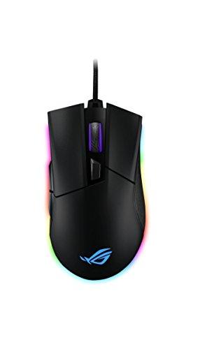 Asus ROG Gladius II ORIGIN Mouse Gaming Ottico, 12000 DPI, Design Ergonomico, Aura Sync RGB, Interruttori Omron, Nero