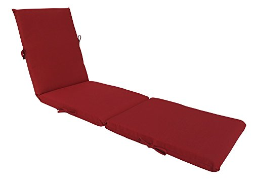 Bossima Indoor Outdoor Lounge Chair Cushions Chaise Bench Seasonal Replacement Cushions Patio Furniture Cushions Rust Red