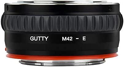 GUTTY Camera Lens Mount Adapter for M42 Lens to Sony NEX E-Mount Camera for Sony Alpha NEX-7 NEX-6 NEX-5N NEX-5 NEX-C3 NEX-3