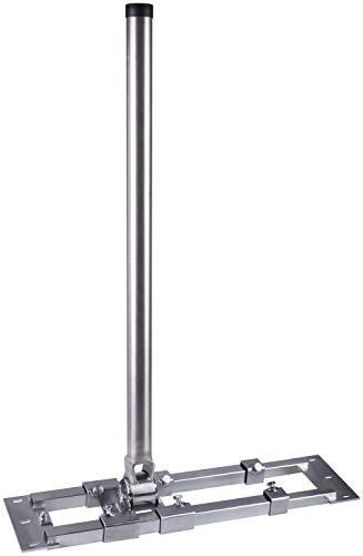 Dachsparrenhalter - DUR-line® Herkules E48-900 Edelstahl - über 1000Nm - Breite:55- 90cm, Masthöhe:90cm, Ø:48mm, Edelstahlmast, rostfrei