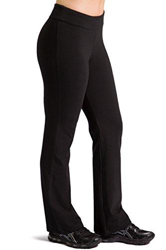 Fishers Finery Women's Ecofabric Classic Bootleg Yoga Pant (Black, S Petite)