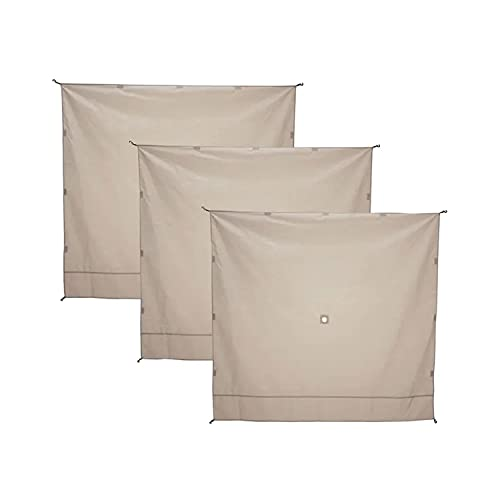 Gazelle GAZL-GA104 Weather-Resistant, UV-Resistant Waterproof Gazebo Tent Three Wind Screen Panel in Desert Brown, (Tent Not Included)