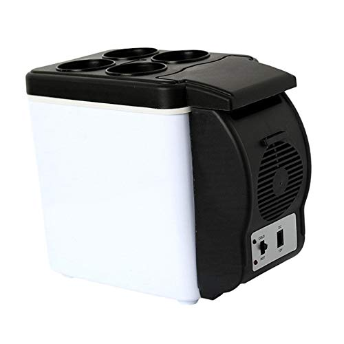 JSJJRFV Refrigerador de Coche Coche portátil Fridge Congelador Más frío Calentador Mini refrigerador 6L 12V 48W Oficina