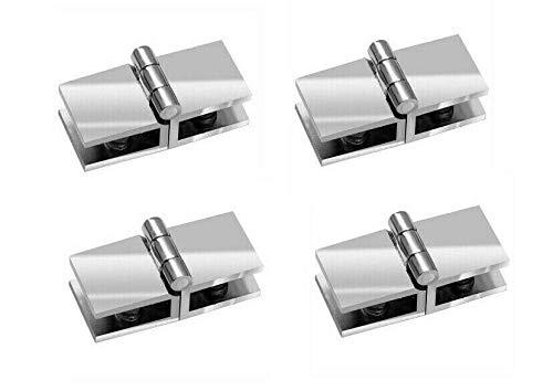 4 bisagras para puerta de cristal de 6 a 8,76 mm de ancho