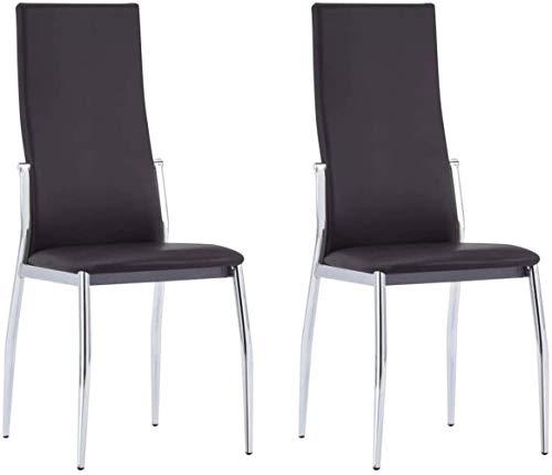 Essplatzstühle Polster 2 Stück Aluminium-Kunstleder braun