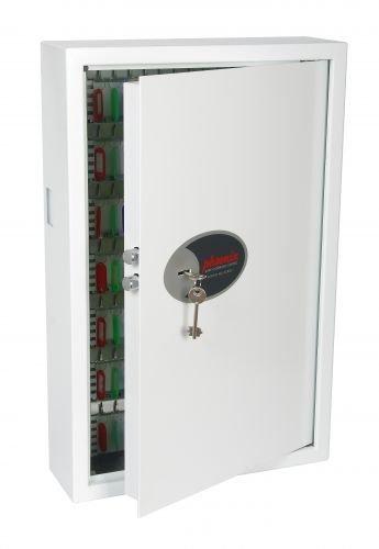 Phoenix Cygnus Schrank und Schlüsselhalter Stahl weiß – Schrank und Schlüsselhalter (Stahl, weiß, 144 Haken, Schlüssel, 430 x 130 x 660 mm, 424 x 110 x 655 mm)