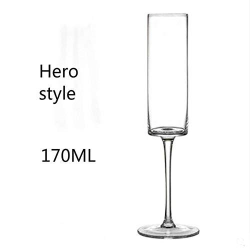 Unbekannt Liang Goblet Champagne GlassWine Glass Cup Sweet Wine Glass Sparkling Wine Glass Bar Family Drink Glass 100-200ml,Multi