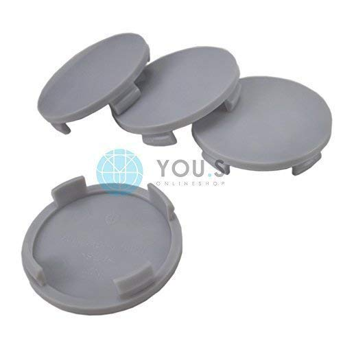4 x Nabenkappen Nabendeckel Felgendeckel Träger Grau Aussen 60,0 mm Innen 55,0 mm N23 ATS RIAL ALUTEC