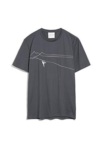 ARMEDANGELS JAAMES Mountain Climber - Herren T-Shirt aus Bio-Baumwolle L Acid Black Shirts T-Shirt Regular fit