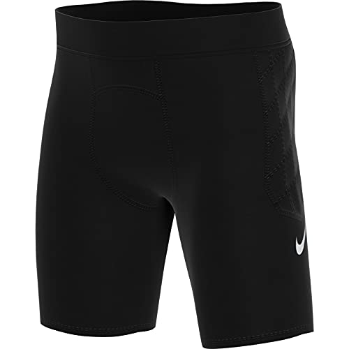 Nike Kinder Padded Gardien Goalkeeper Short Torwartshort, Black/Black/White, L