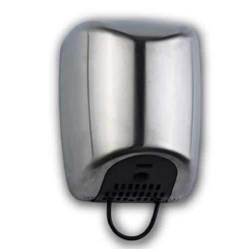 ClimaSpain Secamanos Electrico Automatico en Acero INOX Satinado · Secador de Manos Pared Profesional con Potencia de 1800W · Secadora de Pared con Sensor