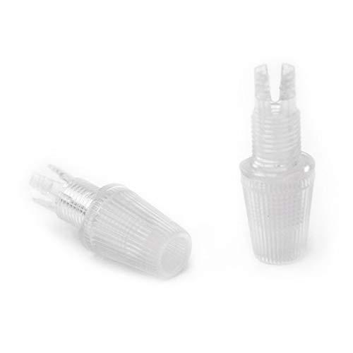 Prisionero plástico transparente 10/100 para cable textil - Accesorios para lámparas