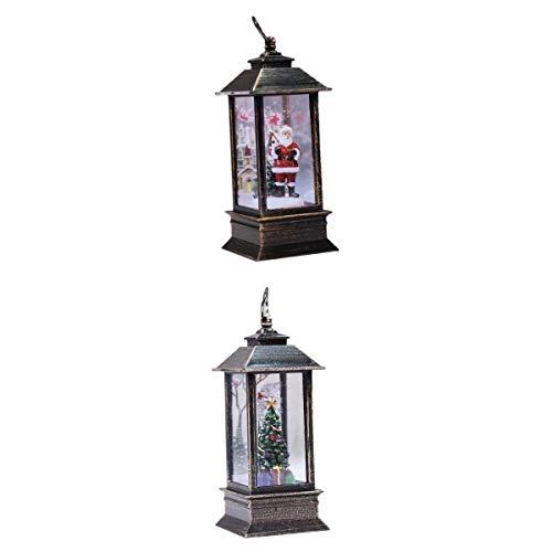 harayaa 2pcs Luminous Lantern LED Glow Accent Night Light Christmas Ornament Holiday
