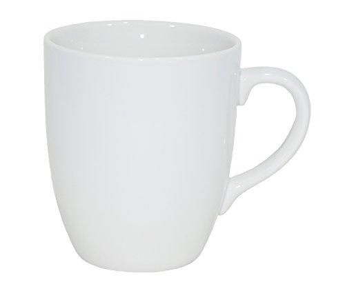 Set aus 6 Stück Tassen 300 ml aus echtem Porzellan, auch zum Bemalen bestens geeignet Porzellantassen Tasse Becher für Tee Kaffee Milch Cappuccino