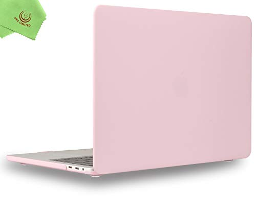UESWILL MacBook Pro 13 inch Case 2020 2019 2018 2017 2016 Release A2289 A2251 A2159 A1989 A1706 A1708, Matte Hard Case for MacBook Pro 13 inch, 2/4 Thunderbolt 3 Ports (USB-C), Rose Quartz
