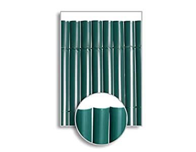 HERSIG - Malla Ocultacion Jardin | Cañizo PVC Verde de 1 Cara para Exterior - 100 x 300 cm