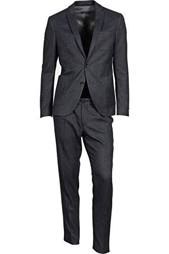Drykorn Herren Anzug Davis mit Muster dunkelblau 52 / XL