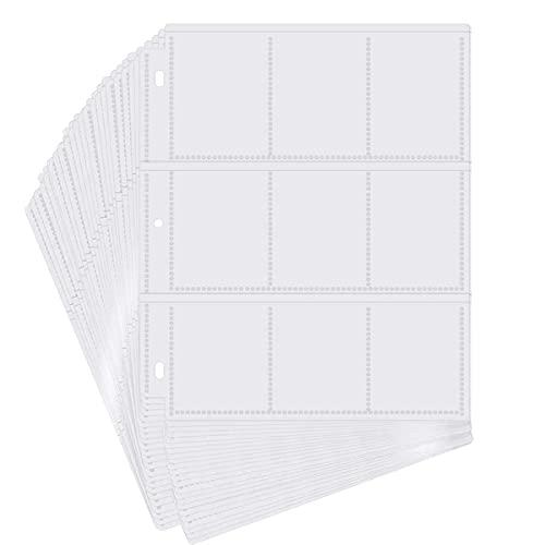 POKONBOY 540 Pockets Baseball Trading Card Sleeves for 3 Ring Binder,...