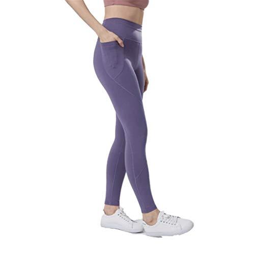 LSRRYD Pantalon Mujeres Deportivo Casual Ligeros Transpirables Butt Lift Seamless No Transparenta Elásticos Leotardos Fitness Yoga Pilates (Color : Gray, Size : XXL)
