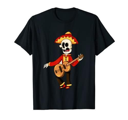 Charro Mariachi Mexicano Halloween Dia de Muertos Camiseta