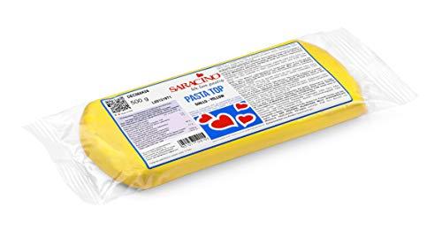 Saracino Pasta Di Zucchero Top Gialla Per Copertura Da 500 g Made In Italy