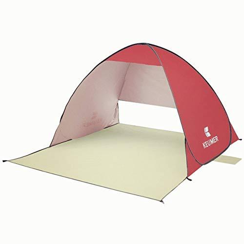 YKWYQ Sonnensegel Dreieckig Automatische Sonnenschutzhütten Strand Zelt UV-Schutz Pop Up Zelte Sonnenschutz-Markise Camping Outdoor Wandern Reisen Shelter (Color : Red)