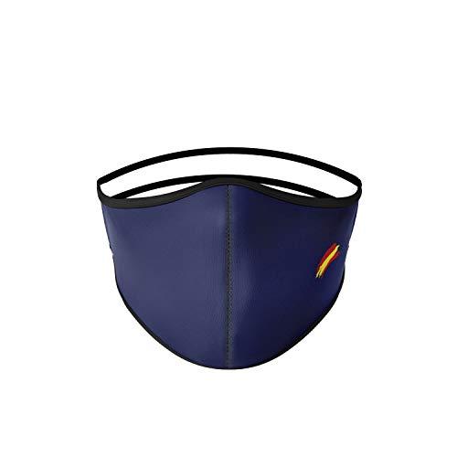 Mascarilla higiénica de tela azul, reutilizable, lavable con bandera...