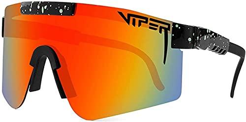 Pit Vipers Sportbrillen, Sport Sonnenbrille,Anti-UV-Outdoor-Radsport-Sportbrillen, UV-400-Brillen-Sonnenbrillen für Outdoor-Rennen Angeln Laufen Bergsteigen Golf Wandern Outdoor-Aktivitäten (C06)