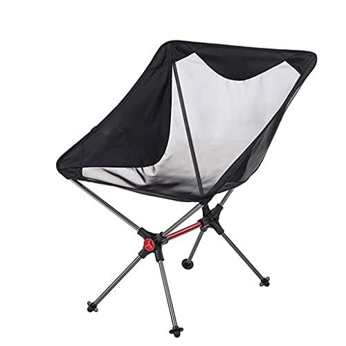 Silla de camping plegable al aire libre resistente Silla de aluminio del campamento del marco, silla de mochila plegable de la construcción de malla transpirable, 264 lbs de peso de capacidad Silla de