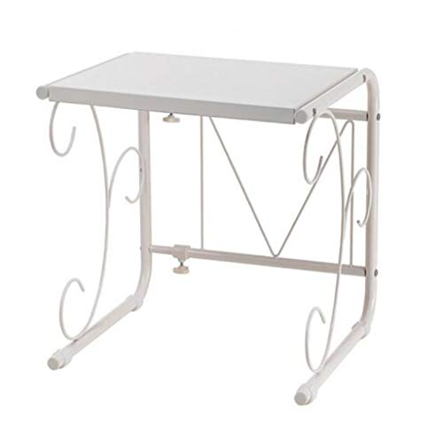 WWJHH-Kitchen shelf Estante de Cocina para microondas de Metal con una Sola Capa de Acero al Carbono retráctil de 15.7 a 23.6 Pulgadas, Apto para Cocina, Oficina, Cuarto de baño