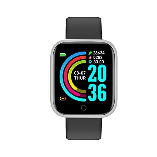 zyz Y68 Smart Watch Sports Fitness Tracker, Presión Arterial Y Monitor De Frecuencia Cardíaca, Impermeable, Bluetooth Smart Pulsera,C