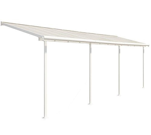 Hochwertige Aluminium Terrassenüberdachung, Balkondach, Terrassendach Sierra 230x690 cm (TxB)
