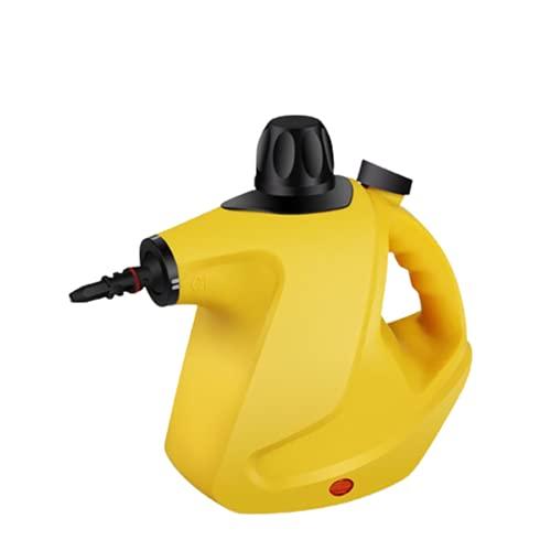 HQ2 Limpiador de Vapor de Mano con 9 Accesorios, Limpiador de Vapor de 450 ml, Adecuado para automóviles, Ventanas, alfombras, Cortinas, Muebles, baños, Azulejos, Pisos