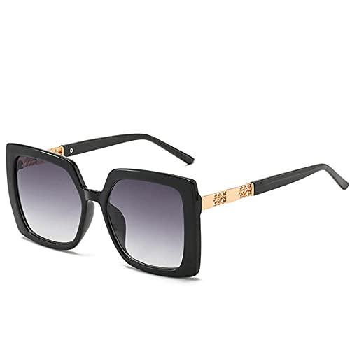 Gafas De Sol Hombre Mujeres Ciclismo Gafas De Sol para Mujer Gafas De Sol De Moda para Hombre Vintage Gafas De Sol para Mujer Gradient Shades-Negro