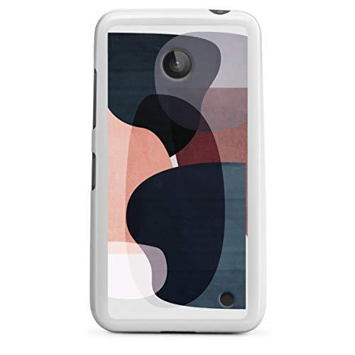 Silikon Hülle kompatibel mit Nokia Lumia 630 Hülle weiß Handyhülle Geometric Design Graphic