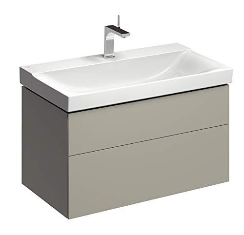 Keramag XENO² Waschtischunterschrank 880 x 530 x 462 mm Korpus/Front: Greige, Lack matt