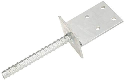 KOTARBAU® T-Pfostenträger 130x90x6mm zum Einbetonieren mit Betonanker aus Bewehrungsstahl Feuerverzinkt