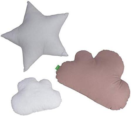 18 opinioni per Lulando Cuscino a forma di nuvole e stelle, 3 pezzi, con stelle, cuscino
