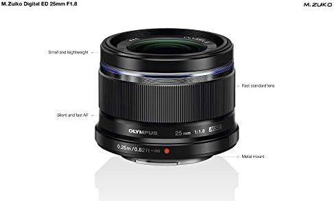 Olympus 25mm 1 1 8 M Zuiko Digital Lens Black Camera Photo