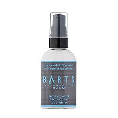 Bart's Balm Aftershave Balm Men- Argan Oil - Amber 50ml - Sensitive After Shaving Skin Care by Bart's Balm