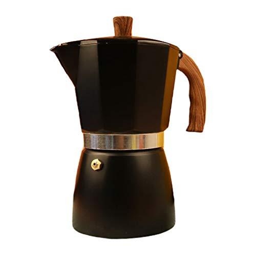 lijun Cocina Moka Espresso Cafetera Octogonal Estufa de percolador de Aluminio 3/6 Taza