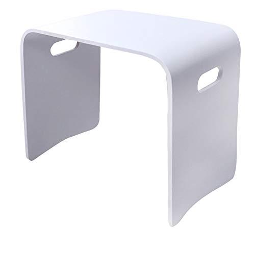 chenyang86 Tabouret - chaussures de maison en bois massif de mode simple petit tabouret carré pour tabouret de table à manger (Couleur : Blanc, taille : 51 * 31 * 46cm)