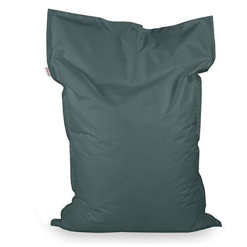Italpouf Sitzsack Sitzkissen Riesensitsack XL Grau 98 x 138cm 250l Füllung Outdoor Indoor Bean Bag