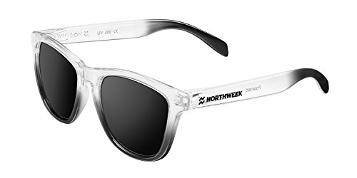 Northweek Gradiant Curren - Gafas de Sol Polarizadas, Blanco/Negro