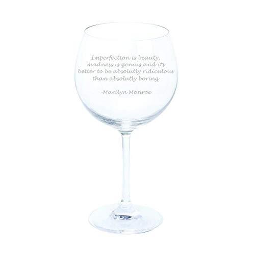 Dartington Marilyn Monroe Gin and Tonic Zitat Wein & Bar Gin & Tonic Copa Glas